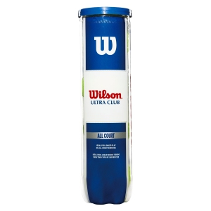 Wilson Tennis Balls Wilson Ultra Club All Court  4 Ball Can WRT116000
