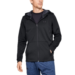Men's Tennis Shirts and Hoodies Under Armour ColdGear Armour Fleece Hoodie  Black 13207440001