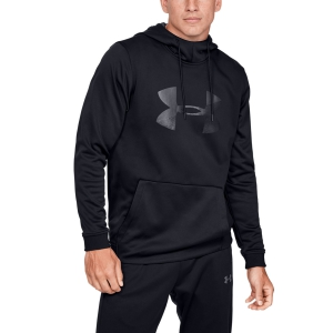 Men's Tennis Shirts and Hoodies Under Armour Big Logo Graphic Fleece  Black 13453210001