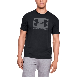 Men's Tennis Shirts Under Armour Boxed Sportstyle TShirt  Black/Grey 13295810001
