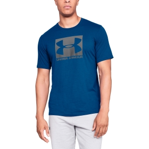 Men's Tennis Shirts Under Armour Boxed Sportstyle TShirt  Blue/Grey 13295810400