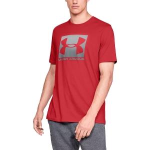 Maglietta Tennis Uomo Under Armour Boxed Sportstyle TShirt  Red/Light Grey 13295810600