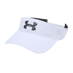 Tennis Hats and Visors Under Armour Men's Core Visor  White 13286760100