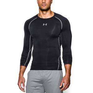 Tennis Men's Underwear Under Armour HeatGear Armour Compression Shirt  Black 12574710001