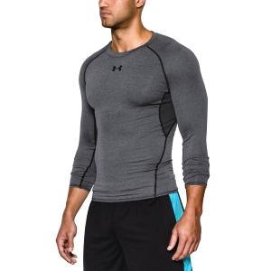 Tennis Men's Underwear Under Armour HeatGear Armour Compression Shirt  Dark Grey 12574710090