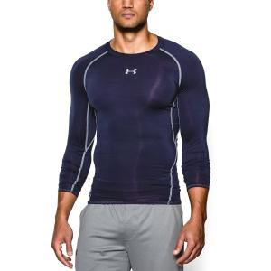 Tennis Men's Underwear Under Armour HeatGear Armour Compression Shirt  Navy/Grey 12574710410
