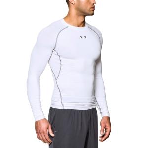 Tennis Men's Underwear Under Armour HeatGear Armour Compression Shirt  White/Grey 12574710100