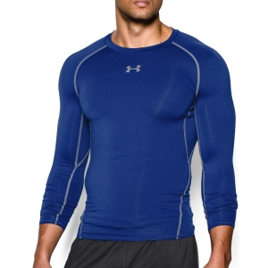 Men's Tennis Shirts and Hoodies Under Armour HeatGear Armour Compression Shirt  Blue 12574710400
