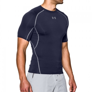 Intimo de Tenis Hombre Under Armour HeatGear Compression TShirt  Navy/Grey 12574680410