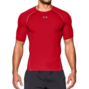 Intimo de Tenis Hombre Under Armour HeatGear Compression TShirt  Red 12574680600