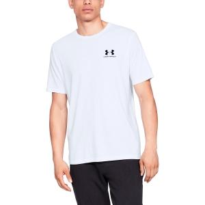 Maglietta Tennis Uomo Under Armour Sportstyle Left Chest TShirt  White 13267990100