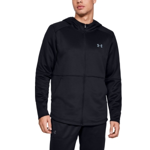 Men's Tennis Shirts and Hoodies Under Armour MK1 WarmUp  Fleece  Black 13452590001