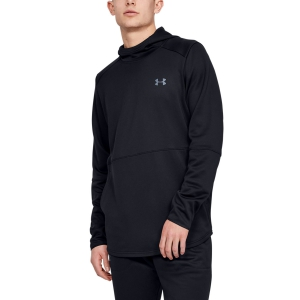 Men's Tennis Shirts and Hoodies Under Armour MK1 WarmUp Logo Fleece  Black 13452640001