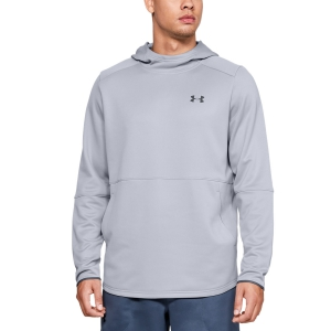 Men's Tennis Shirts and Hoodies Under Armour MK1 WarmUp Logo Fleece  Light Gray 13452640011