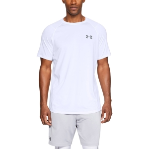 Men's Tennis Shirts Under Armour MK1 TShirt  White 13234150100