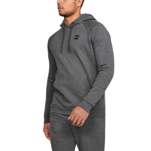 Men's Tennis Shirts and Hoodies Under Armour Rival Fleece Hoodie  Dark Gray 13207360020