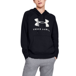Women's Tennis Shirts and Hoodies Under Armour Rival Fleece Sportstyle Hoodie  Black 13485500001
