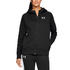 Women's Tennis Shirts and Hoodies Under Armour Rival Fleece Sportstyle Hoodie  Black 13485590001