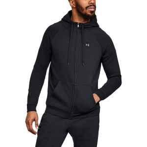 Men's Tennis Shirts and Hoodies Under Armour Rival Fleece Full Zip Hoodie  Black 13207370001