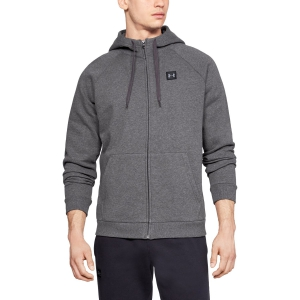 Men's Tennis Shirts and Hoodies Under Armour Rival Fleece Full Zip Hoodie  Dark Grey 13207370020