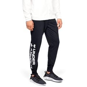 Men's Tennis Pants Under Armour Sportstyle Cotton Graphic Pants  Black/White 13292980001