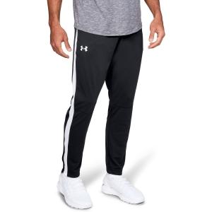 Men's Tennis Pants Under Armour Sportstyle Pique Pants  Black/White 13132010001