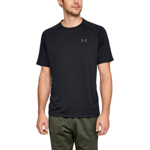 Men's Tennis Shirts Under Armour Tech TShirt  Black 13264130001