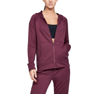 Women's Tennis Shirts and Hoodies Under Armour Tech Terry Hoodie  Purple 13444870569