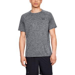 Men's Tennis Shirts Under Armour Tech TShirt  Dark Grey 13264130002