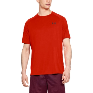 Men's Tennis Shirts Under Armour Tech TShirt  Red 13264130890