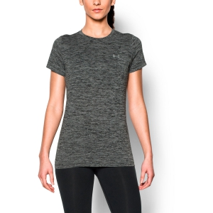 Camisetas y Polos de Tenis Mujer Under Armour Tech Twist TShirt  Grey/Black 12772060001