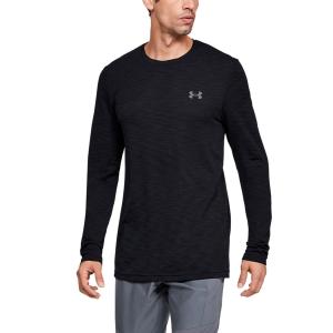 Men's Tennis Shirts and Hoodies Under Armour Vanish Seamless Shirt  Black 13453110001