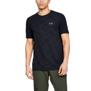 Men's Tennis Shirts Under Armour Vanish Seamless TShirt  Black 13453090001