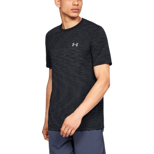 Men's Tennis Shirts Under Armour Vanish Seamless TShirt  Black 13256220001