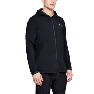 Men's Tennis Jackets Under Armour Vanish Woven Jacket  Black 13453010001