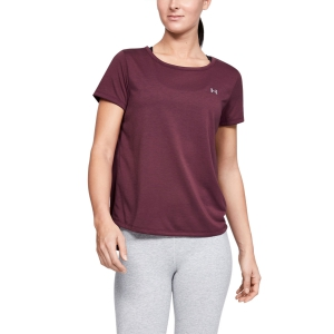 Camisetas y Polos de Tenis Mujer Under Armour Whisperlight Camiseta  Purple 13444690569