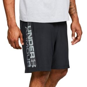 Men's Tennis Shorts Under Armour Woven Graphic Wordmark 8in Shorts  Black/Grey 13202030001