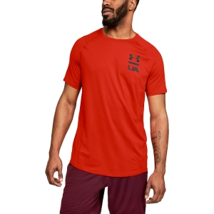 Men's Tennis Shirts Under Armour MK1 Logo Graphic TShirt  Red 13208250890