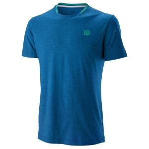 Camisetas de Tenis Hombre Wilson Competition Flecked Crew Camiseta  Imperial Blue WRA773401