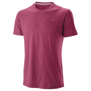 Men's Tennis Shirts Wilson Competition Flecked Crew TShirt  Granita WRA773402