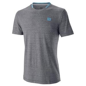 Men's Tennis Shirts Wilson Competition Flecked Crew TShirt  Ebony WRA773404