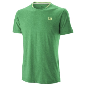 Men's Tennis Shirts Wilson Competition Flecked Crew TShirt  Deep Green WRA773403