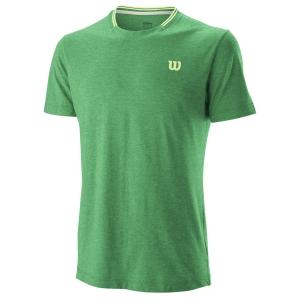 Camisetas de Tenis Hombre Wilson Competition Flecked Crew Camiseta  Deep Green WRA773403