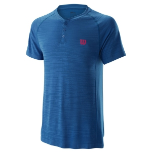 Men's Tennis Polo Wilson Competition Seamless Henley Polo  Imperial Blue WRA773701