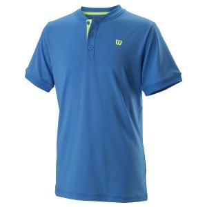 Polos y Camisetas de Tenis Wilson Henley Polo Nino  Brilliant Blue WRA768004