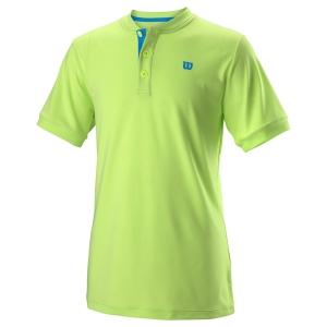 Polos y Camisetas de Tenis Wilson Henley Polo Nino  Sharp Green WRA768003