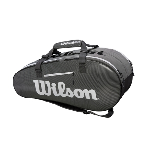 Tennis Bag Wilson Super Tour 2 Comp Large x 9 Bag  Black/Grey WRZ843909