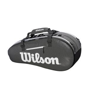 Tennis Bag Wilson Super Tour 2 Comp Small x 6 Bag  Black/Grey WRZ843906