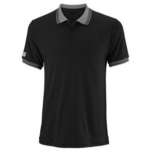 Men's Tennis Polo Wilson Team Polo  Black WRA765402