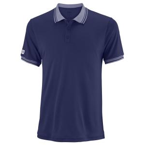 Men's Tennis Polo Wilson Team Polo  Blue Depths WRA765404